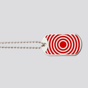 Red Bullseye Dog Tags