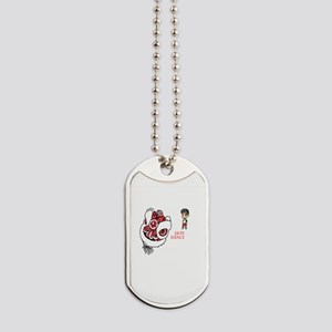 Red Release the Lion  Dog Tags