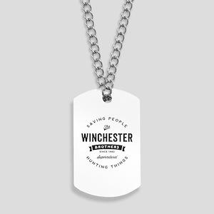 8a30615c8 SUPERNATURAL Winchester Bros black Dog Tags