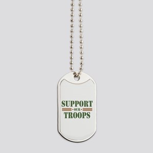 Support Our Troops Dog Tags