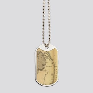 Vintage Map of The Outer Banks (1862) Dog Tags