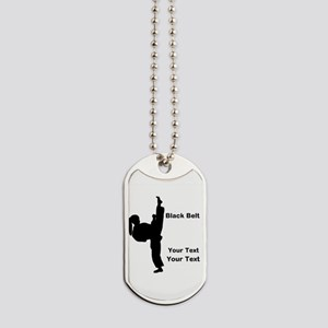 Black Belt Kick Dog Tags