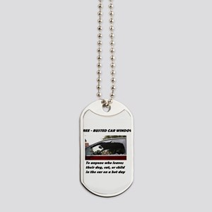 Free Busted Car Window Dog Tags