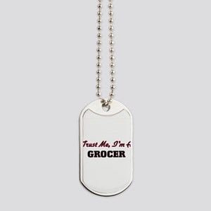 Trust me I'm a Grocer Dog Tags
