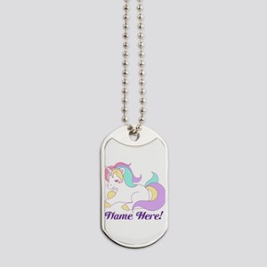 Personalized Custom Name Unicorn Girls Dog Tags