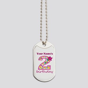 2nd Birthday Splat - Personalized Dog Tags