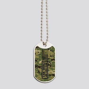 U.S. Navy: Proud Wife (Camo) Dog Tags