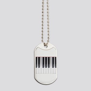 Piano Keyboard 5 Dog Tags