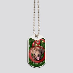 DeckHalls_Labradors_Chocolate Dog Tags