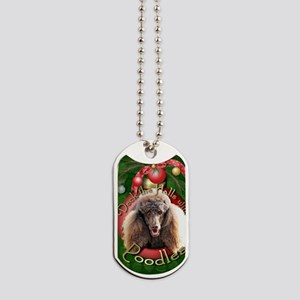 DeckHalls_Poodles_Chocolate Dog Tags
