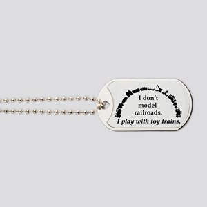 play with trains black Dog Tags