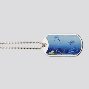 Three Friends Dolphins Dog Tags