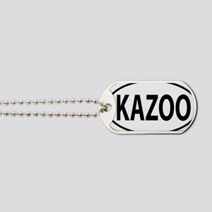 kazoo oval Dog Tags