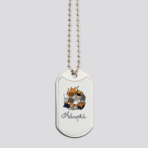 Ailurophile; Cat lover Dog Tags