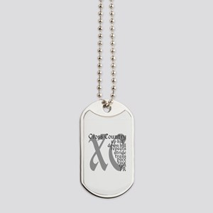 Cross Country XC grey gray Dog Tags