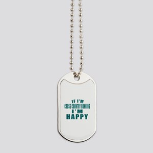 If I Am Cross Country Running Dog Tags