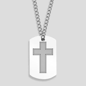 Silver Cross Dog Tags