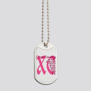 Cross Country XC pink Dog Tags