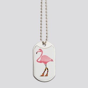 Styling Flamingo Dog Tags