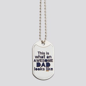 Awesome Dad Dog Tags
