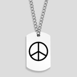 Peace Sign Dog Tags