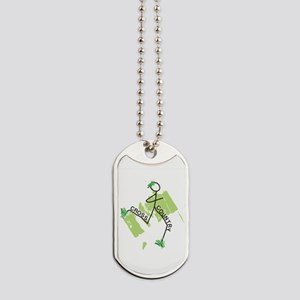 Cute Cross Country Runner Dog Tags