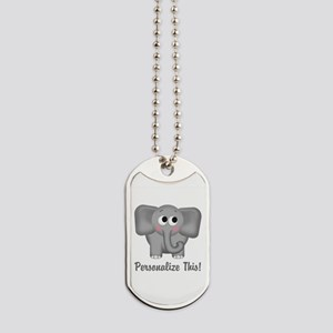 Cute Elephant Personalized Dog Tags
