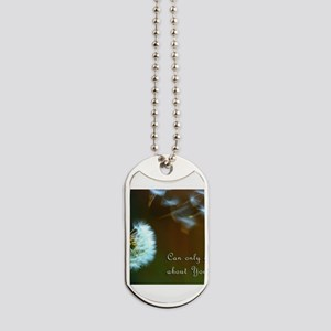 Dandelion 'Thinking About You' Dog Tags