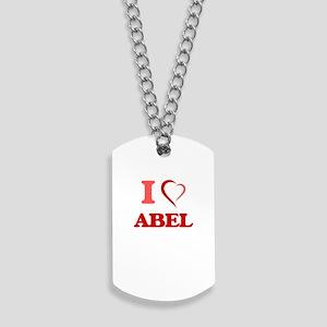 I Love Abel Dog Tags