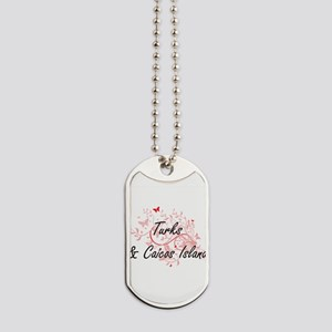 Turks & Caicos Island Artistic Design wit Dog Tags