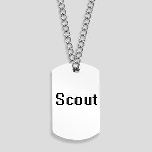 Scout Retro Digital Job Design Dog Tags