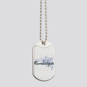 Microbiologist Artistic Job Design with F Dog Tags