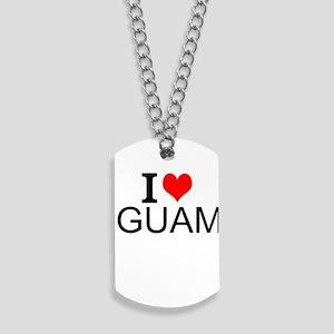 I Love Guam Dog Tags