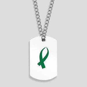 Awareness Ribbon (Green) Dog Tags