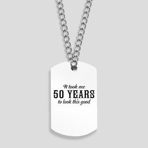 50th Birthday Dog Tags