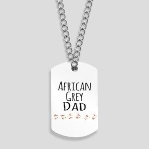 African Grey Dad Dog Tags