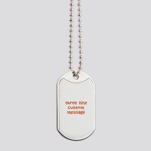 Three Line Custom Design Dog Tags