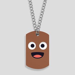 Poop Emoji Face Dog Tags