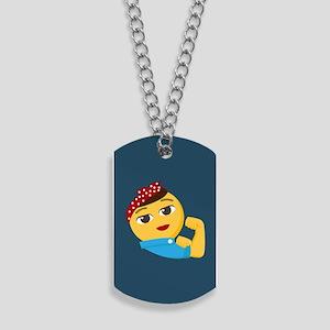 Emoji Rosie the Riveter Dog Tags