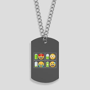 Emoji Phone Battery Dog Tags