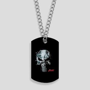 Punisher Skull Glass Dog Tags