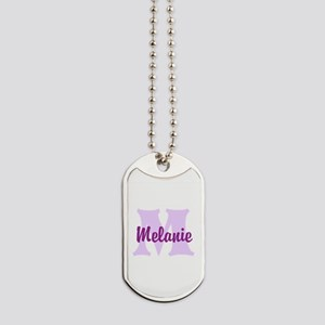 CUSTOM Lilac Purple Monogram Dog Tags