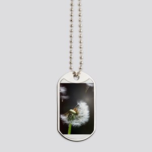 Dandelion blowing Dog Tags