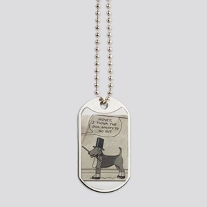 The Airedale Wants to go out Dog Tags