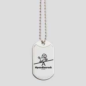 Agility Poodles Rock Dog Tags