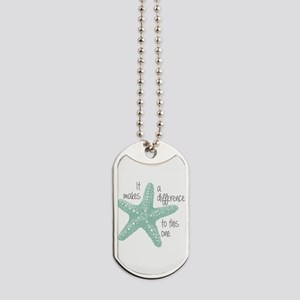 Makes a Difference Dog Tags