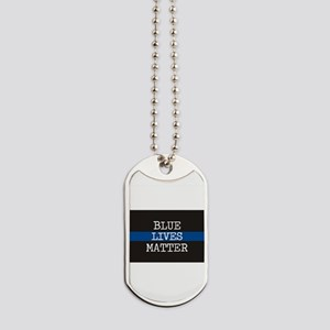 Blue Lives Matter Dog Tags