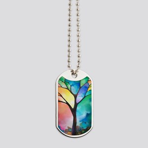 Tree of Light by Sally Trace Dog Tags
