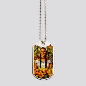 Vintage Mexico Fruit Travel Dog Tags
