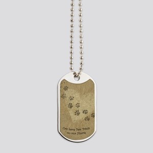 Paw Prints on our Hearts Dog Tags